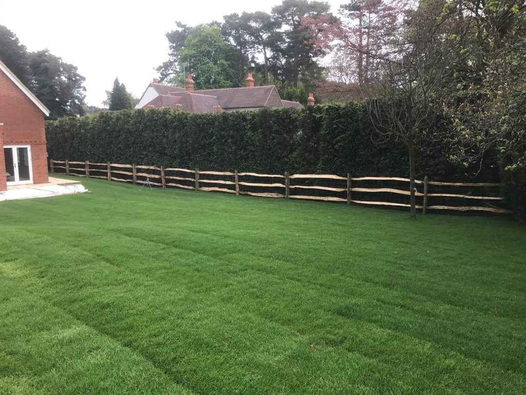 Landscaping - Turfing, Large Hedge Planting & Fencing