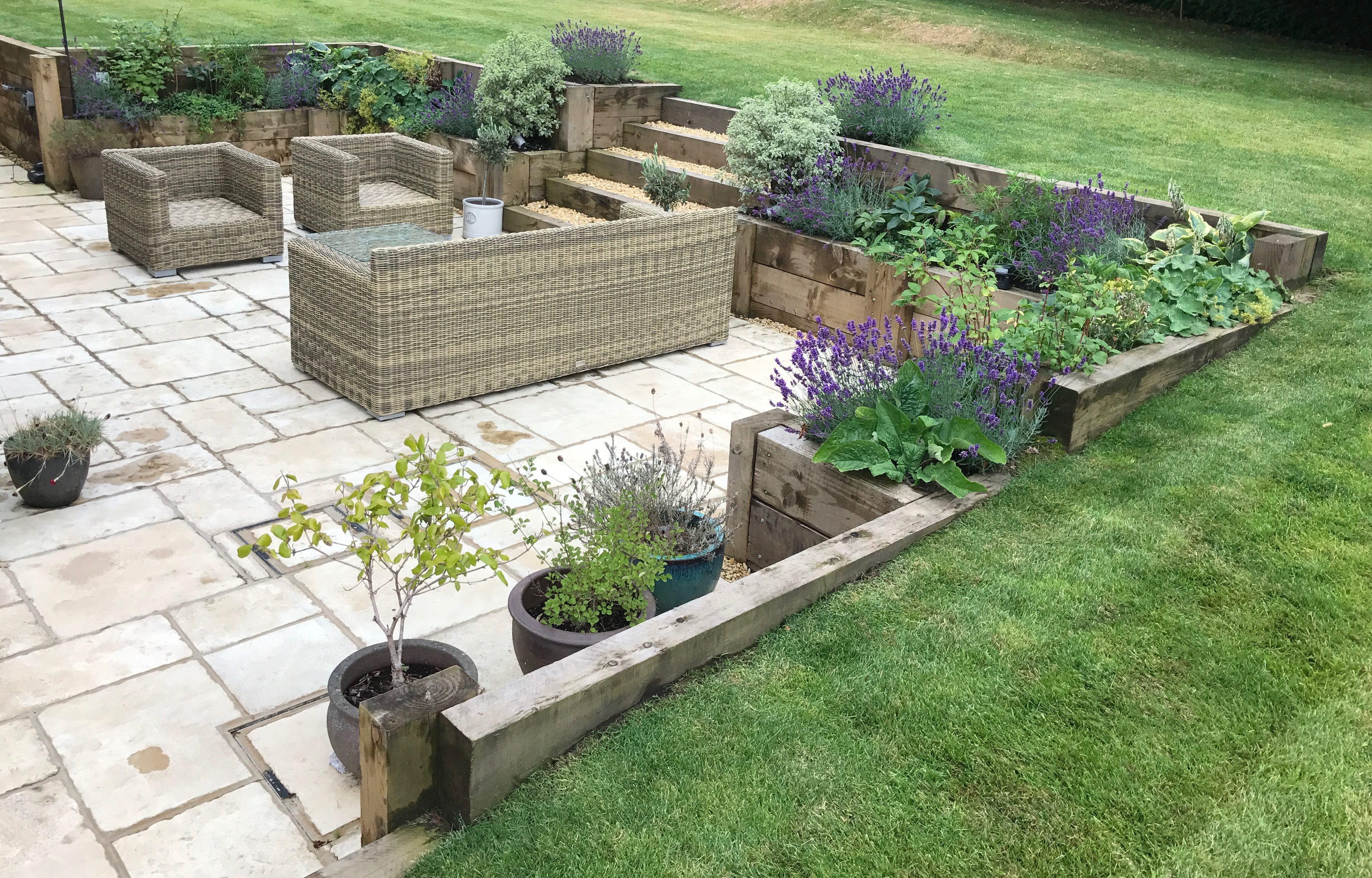 Landscaping - Retaining Walls - Raised Planters - Planting